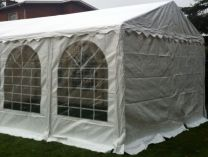 Premium Partytent PVC 3x3x2 mtr in Wit