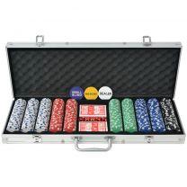 Pokerset met 500 chips aluminium