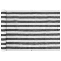 Balkonscherm HDPE 75x400 cm antraciet en wit