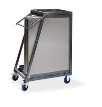 Trolley voor transport Multitafels RVS